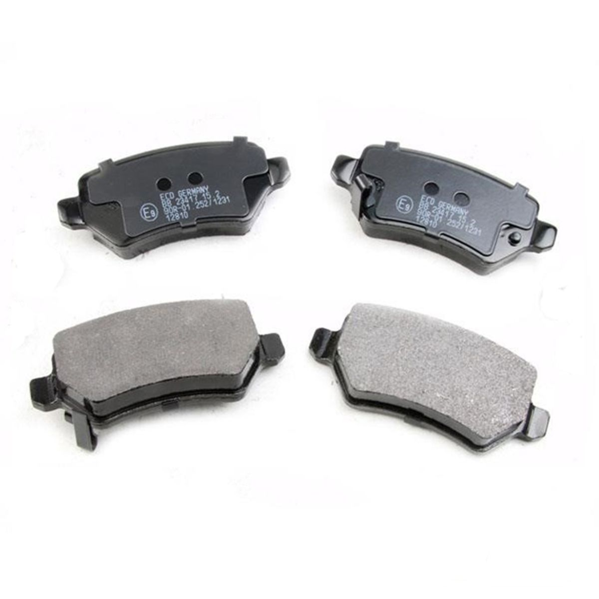 Lodal Front Axle Brake Shoes : Set front axle and rear brake pads opel astra g