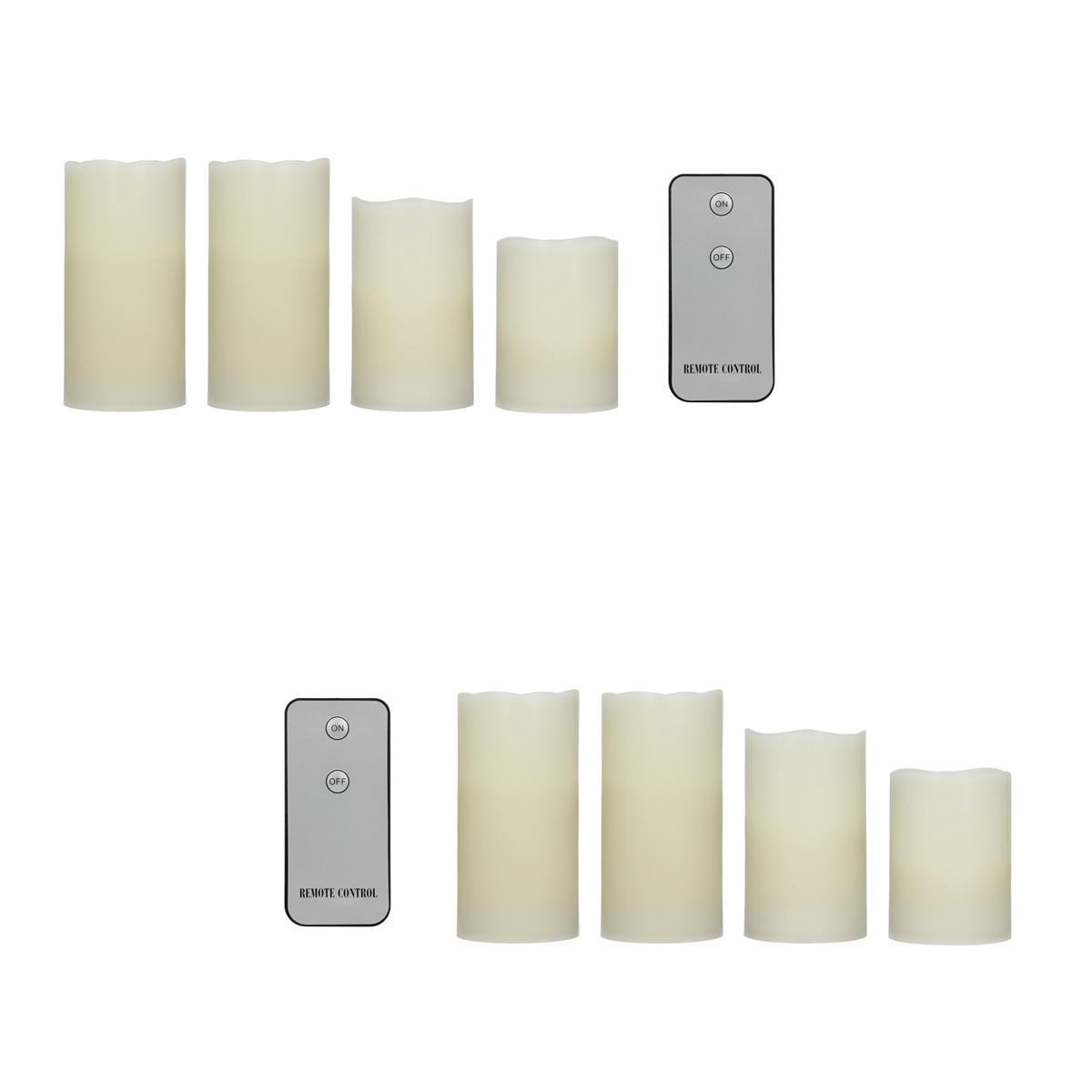 led kerzen mit fernbedienung wachskerze flammenlose kerze flackerlicht flamme ebay. Black Bedroom Furniture Sets. Home Design Ideas