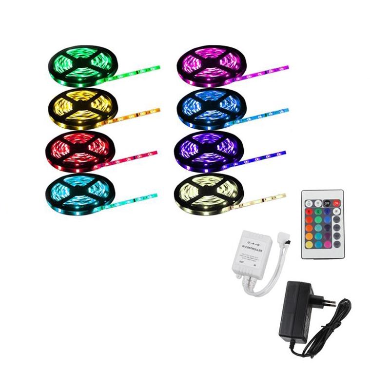 5m rgb led strip band leiste streifen lichtkette lichter schlauch 5050 smd ebay. Black Bedroom Furniture Sets. Home Design Ideas