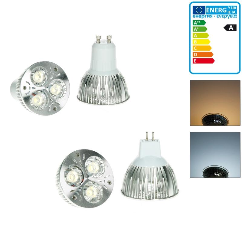 led gu10 mr16 strahler lampen spot leuchtmittel einbauleuchte deckenlicht ebay. Black Bedroom Furniture Sets. Home Design Ideas