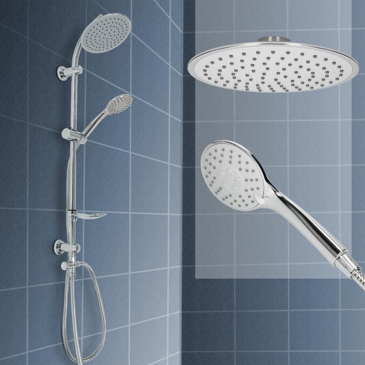 duschset dusch set duscharmatur duschbrause handbrause kopfbrause regendusche ebay. Black Bedroom Furniture Sets. Home Design Ideas