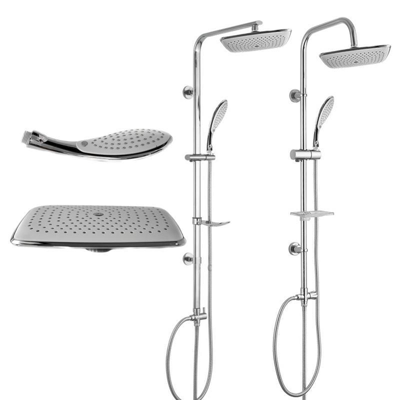 duschset dusch set duscharmatur duschbrause handbrause kopfbrause regendusche - Regendusche Set