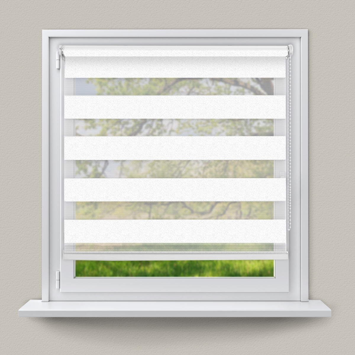 Double Roman Shade On Window : Double duo roller blind side pull easy clip fit zebra