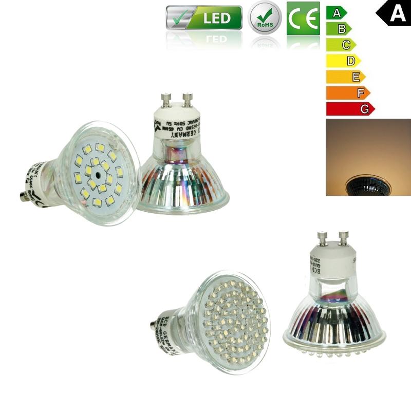 10x 3w 8x 5w douille gu10 mr16 led smd blanc chaud bulb ampoule lampe lumiere. Black Bedroom Furniture Sets. Home Design Ideas