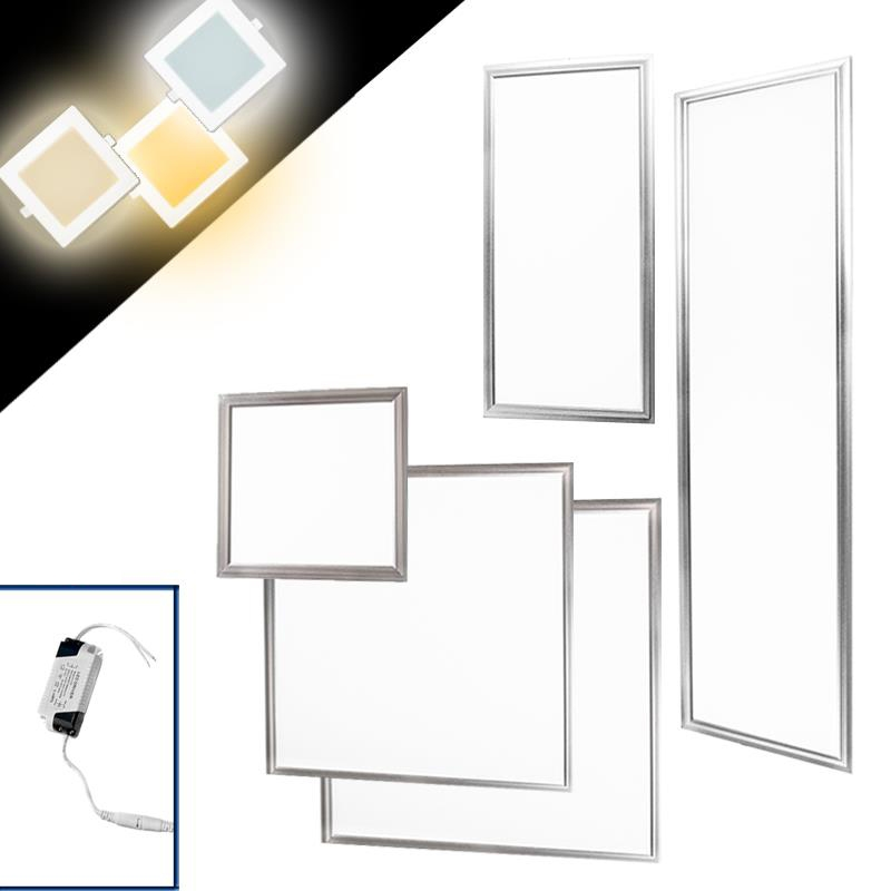 led panel einbaustrahler einbauleuchte deckenleuchte deckenlampe lampe dimmbar ebay. Black Bedroom Furniture Sets. Home Design Ideas