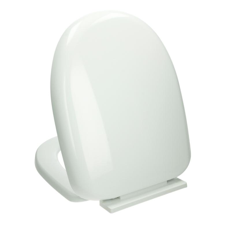wc sitz deckel mit absenkautomatik soft close wei klobrille toilettensitz ebay. Black Bedroom Furniture Sets. Home Design Ideas