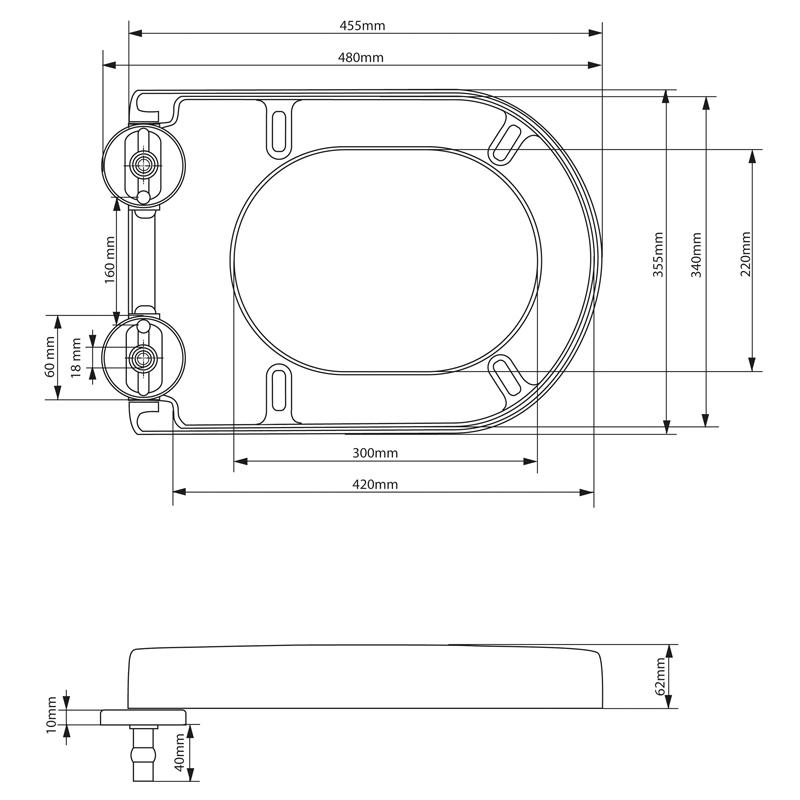 toilettensitz toilettendeckel klodeckel wc sitz deckel mit. Black Bedroom Furniture Sets. Home Design Ideas