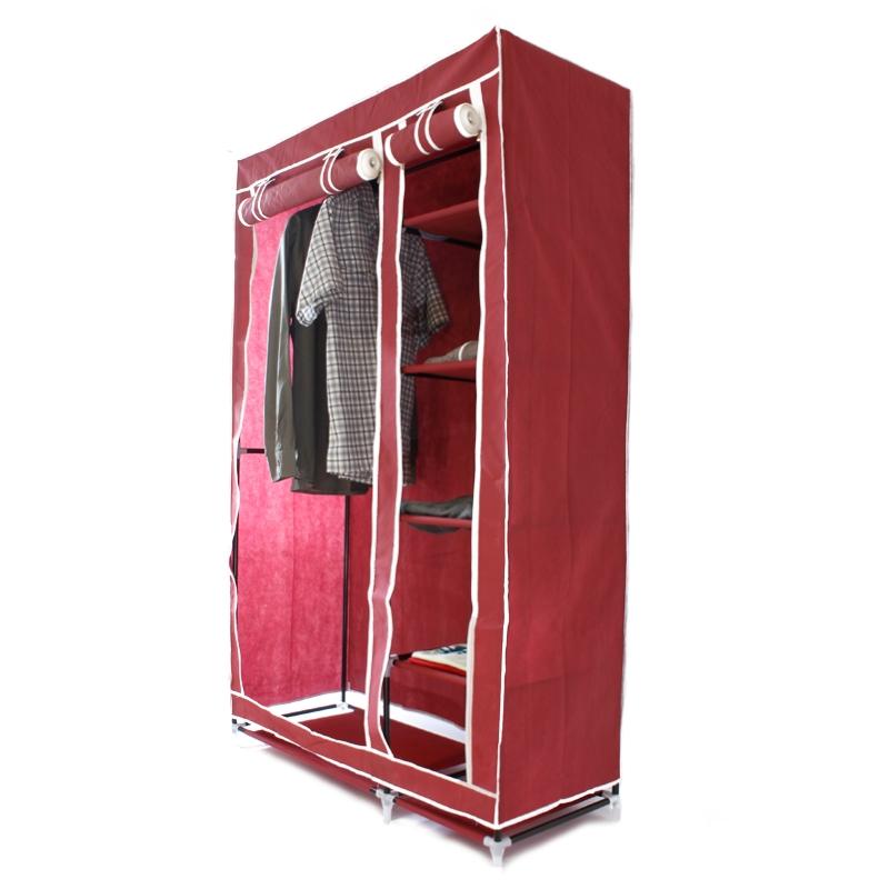 Armoire penderie pliable en tissu rangement transportable - Armoire etagere sans penderie ...