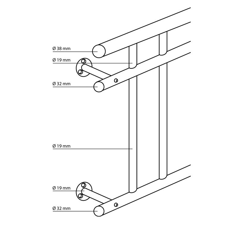 edelstahl franz sischer stabgel nder balkongitter fenstergitter balkongel nder ebay. Black Bedroom Furniture Sets. Home Design Ideas
