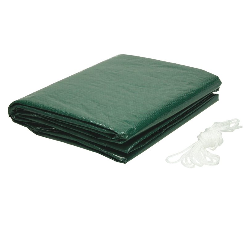 Housse de protection table de jardin ovale 70x180x120 cm vert bache impermeable ebay for Housse table de jardin ovale