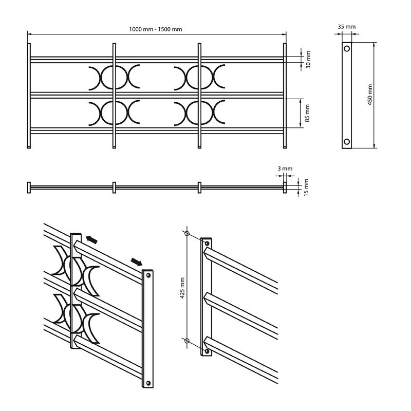 fenstergitter passgitter gitter fenster einbruchschutz ausziehbar 500 1500 mm ebay. Black Bedroom Furniture Sets. Home Design Ideas