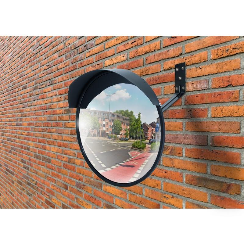 miroir de surveillance universel securite trafic 30 cm noir verre acrylique ebay. Black Bedroom Furniture Sets. Home Design Ideas
