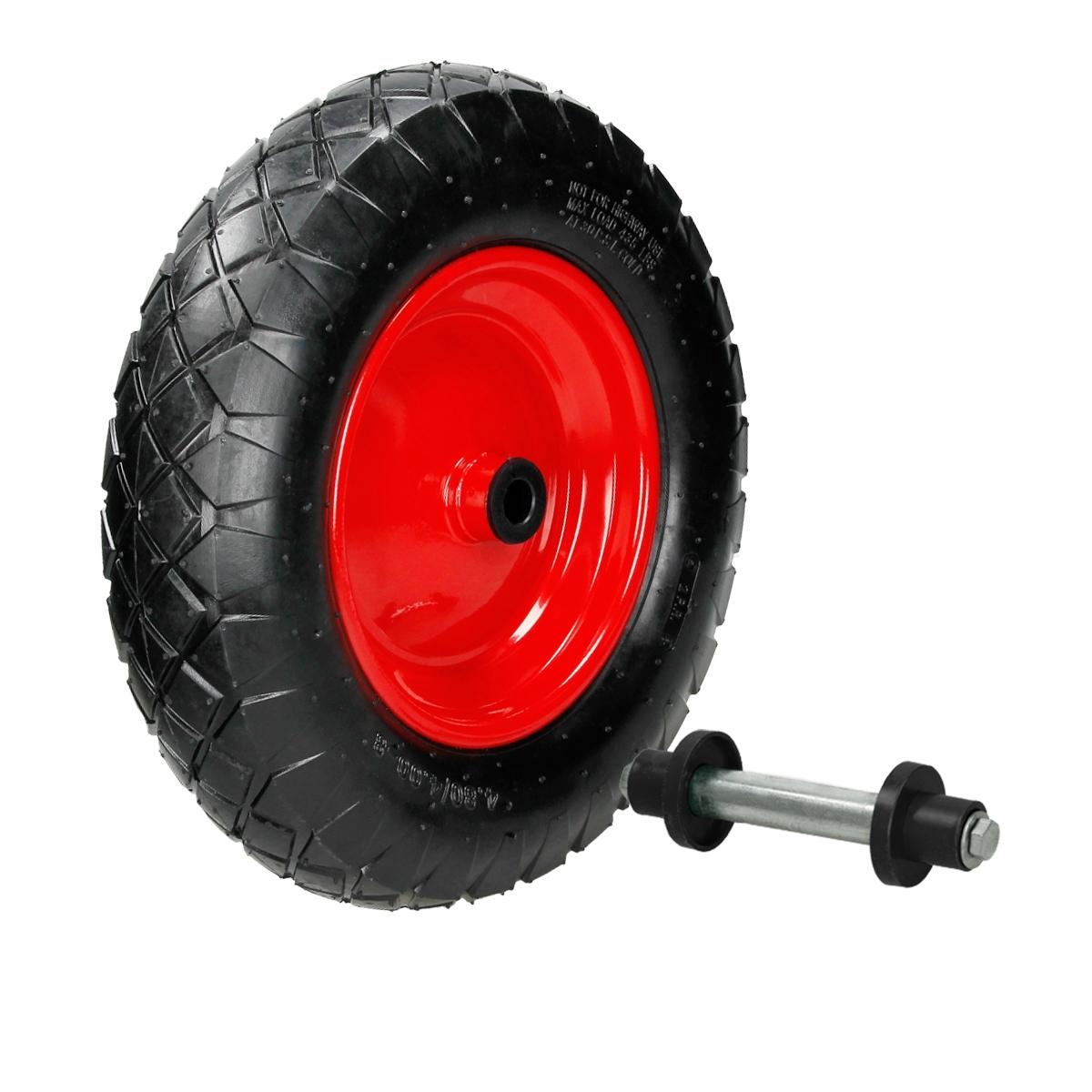 15 roue de brouette pneumatique avec axe. Black Bedroom Furniture Sets. Home Design Ideas