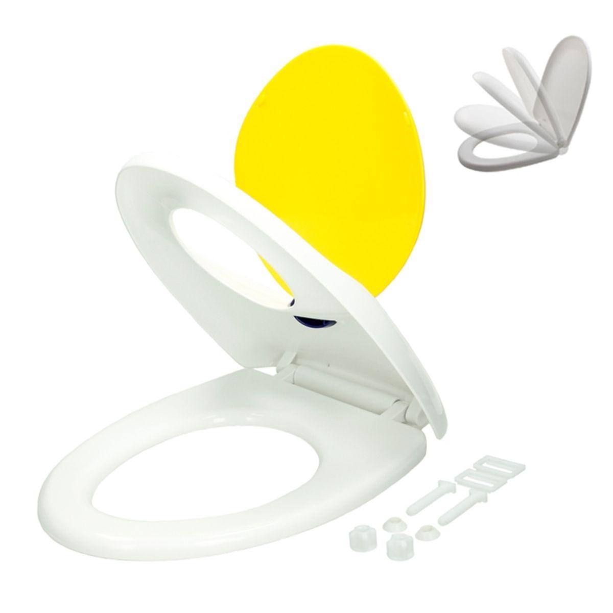 Abattant wc siege couvercle de toilette universel lunettes blanc noir duroplast ebay - Abattant de toilette ...