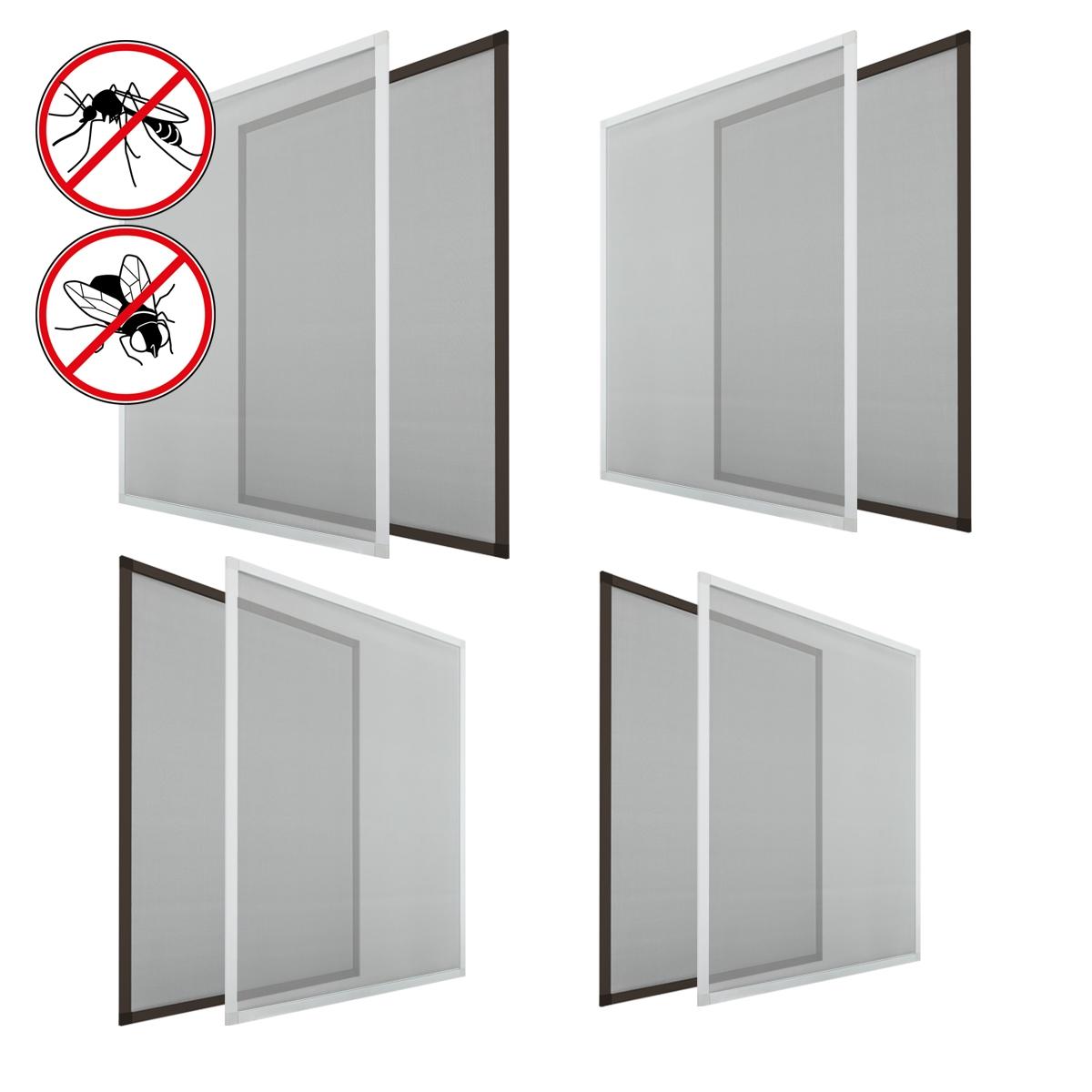 Zanzariera con telaio in alluminio varie dimensioni e colori per finestre porte ebay - Tagliare vetro finestra ...