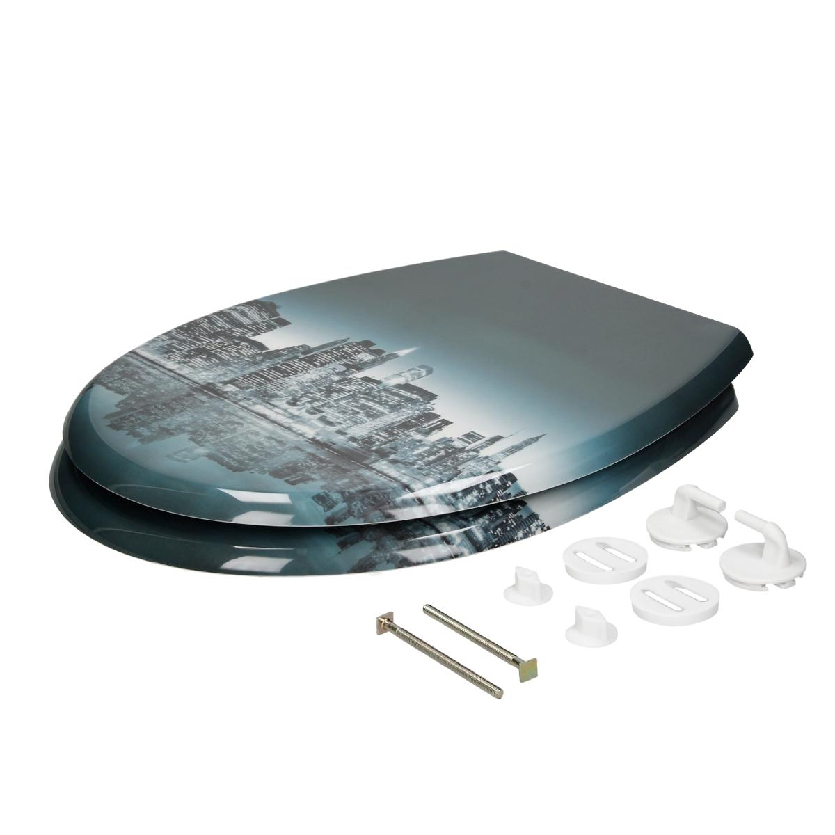 Couvercle abattant de toilette 21 design a choix mat riel duroplast si ge ebay - Couvercle de toilette ...