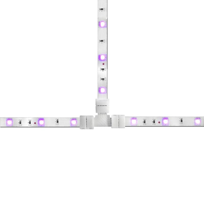 LED STRIPE RGB ACCESSORIES L TYPE T TYPE 4 PIN X CONNECTORS SET BRIDGES ADAPTERS