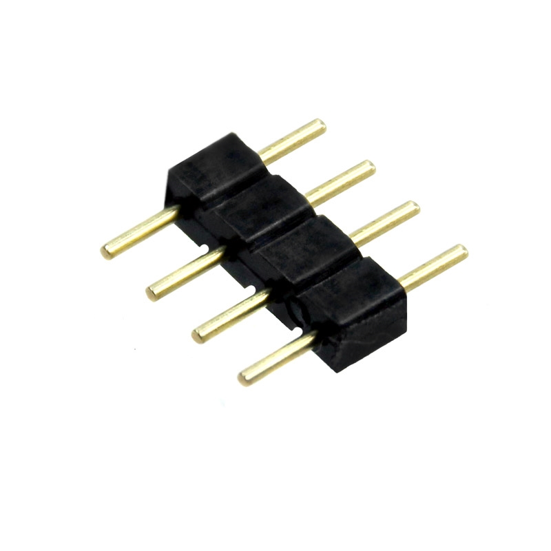 rgb led strip leiste verbinder adapter stecker 4 pin 5050 3528 lichterkette ebay. Black Bedroom Furniture Sets. Home Design Ideas