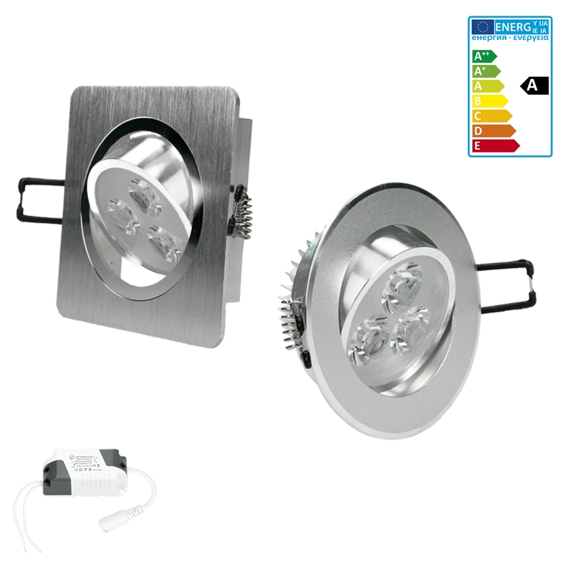 spot ampoules led encastrable plafond plafonnier lampe rond carre froid chaud. Black Bedroom Furniture Sets. Home Design Ideas