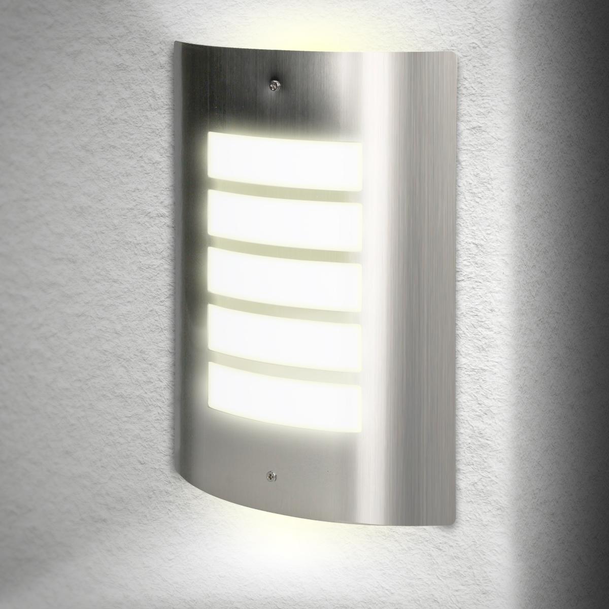 au enleuchte wandleuchten wandlampe lampe licht edelstahl e27 fassung 5w led ebay. Black Bedroom Furniture Sets. Home Design Ideas