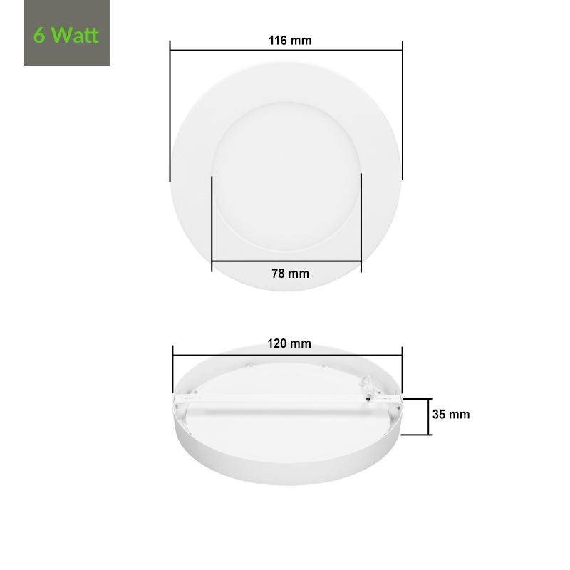 6w 12w 18w 24w led panel aufputz aufbau aufputzlampe deckenlampe wandleuchte ebay. Black Bedroom Furniture Sets. Home Design Ideas