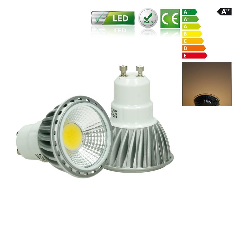 10 x 6w led cob gu10 spot lampe birne leuchte strahler. Black Bedroom Furniture Sets. Home Design Ideas