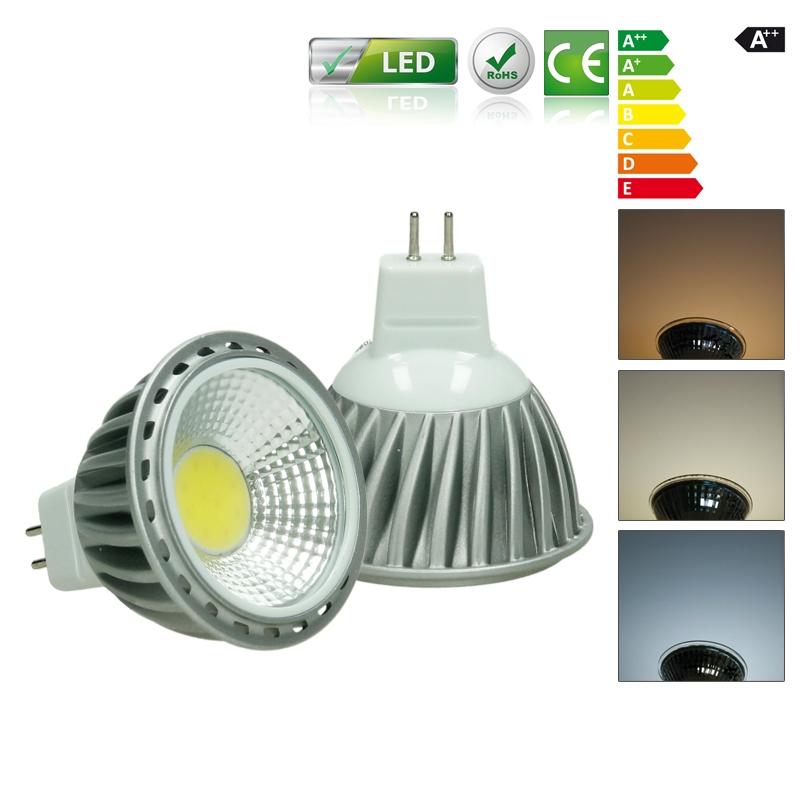 3w 4w 6w 9w gu10 mr16 led cob strahler spot lampe birne. Black Bedroom Furniture Sets. Home Design Ideas