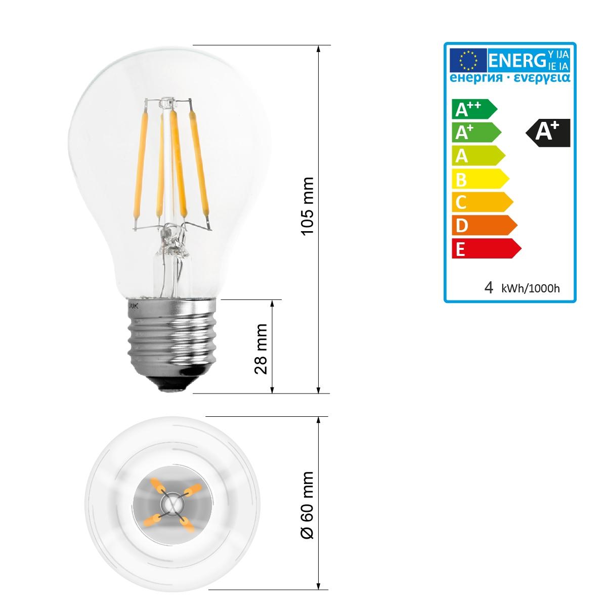 led birne e27 4w 6w 8w 10w kolben filament vintage lampe. Black Bedroom Furniture Sets. Home Design Ideas