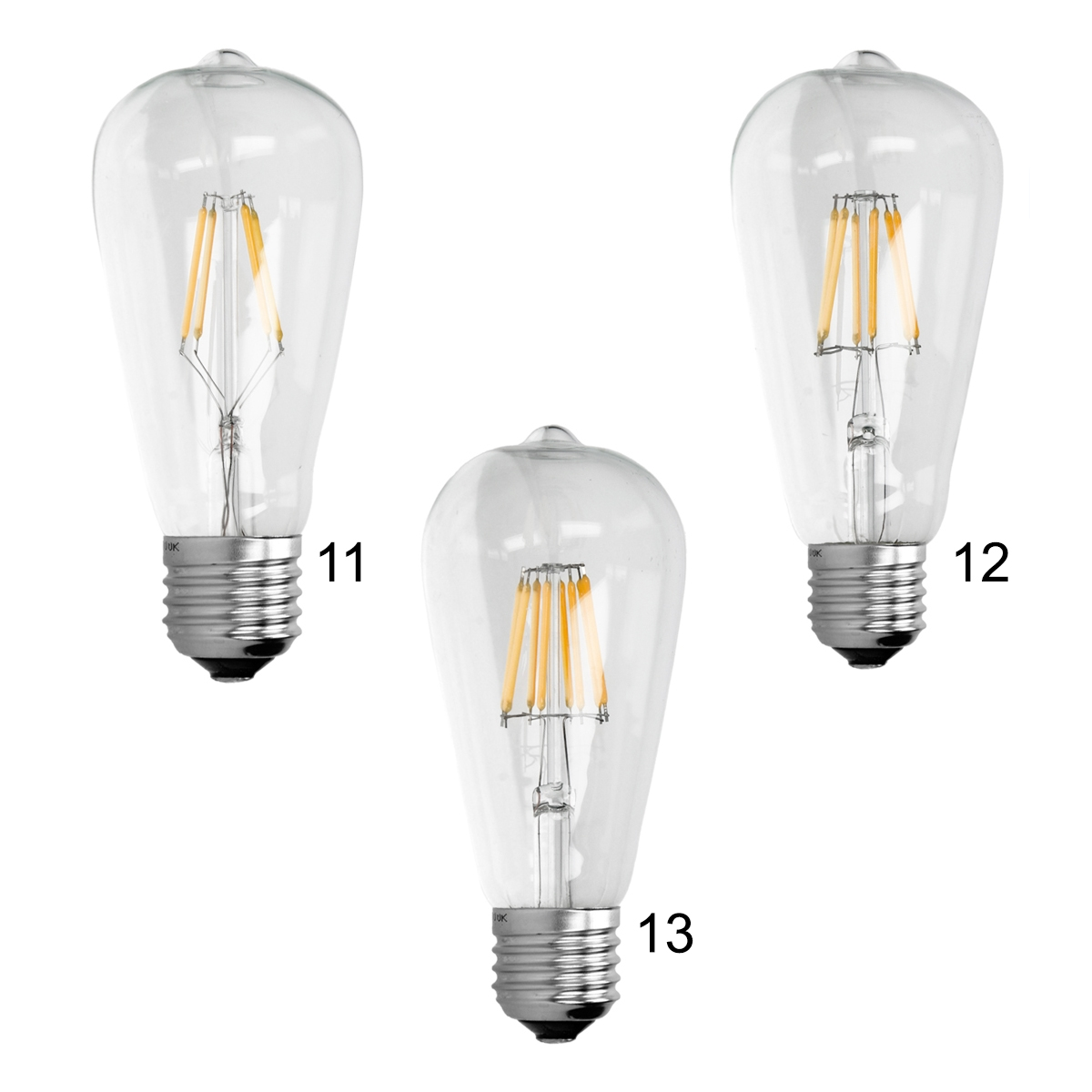 e14 e27 led lampe 2w 4w 6w 8w 10w kerze birne windsto retro vintage filament ebay. Black Bedroom Furniture Sets. Home Design Ideas