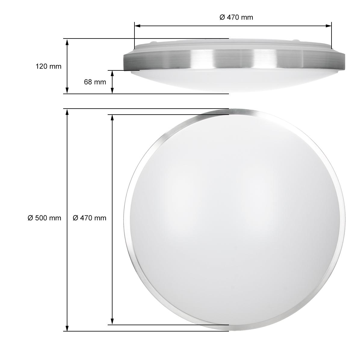 Led deckenleuchte deckenlampe panel badleuchte leuchte 12w for Deckenlampe eckig led