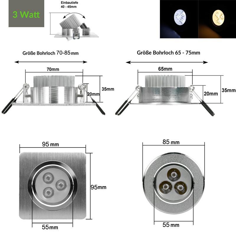 3W-5W-9W-LED-EINBAUSTRAHLER-EINBAU-STRAHLER-DECKENLEUCHTE-SPOT-LAMPE-DIMMBAR