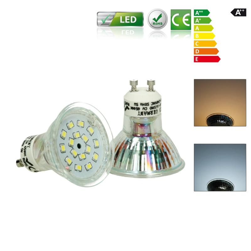 led gu10 mr16 strahler lampen spot leuchtmittel einbauleuchte deckenlicht. Black Bedroom Furniture Sets. Home Design Ideas