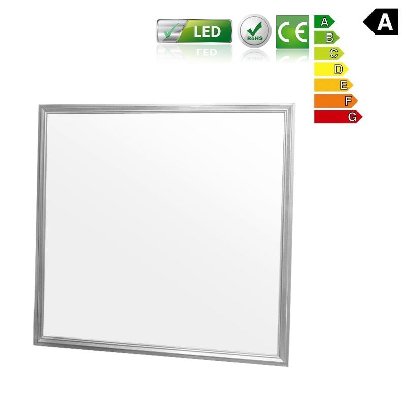 panneau led eclairage lumiere suspendu plafond carr 36w 60x60 cm blanc neutre. Black Bedroom Furniture Sets. Home Design Ideas