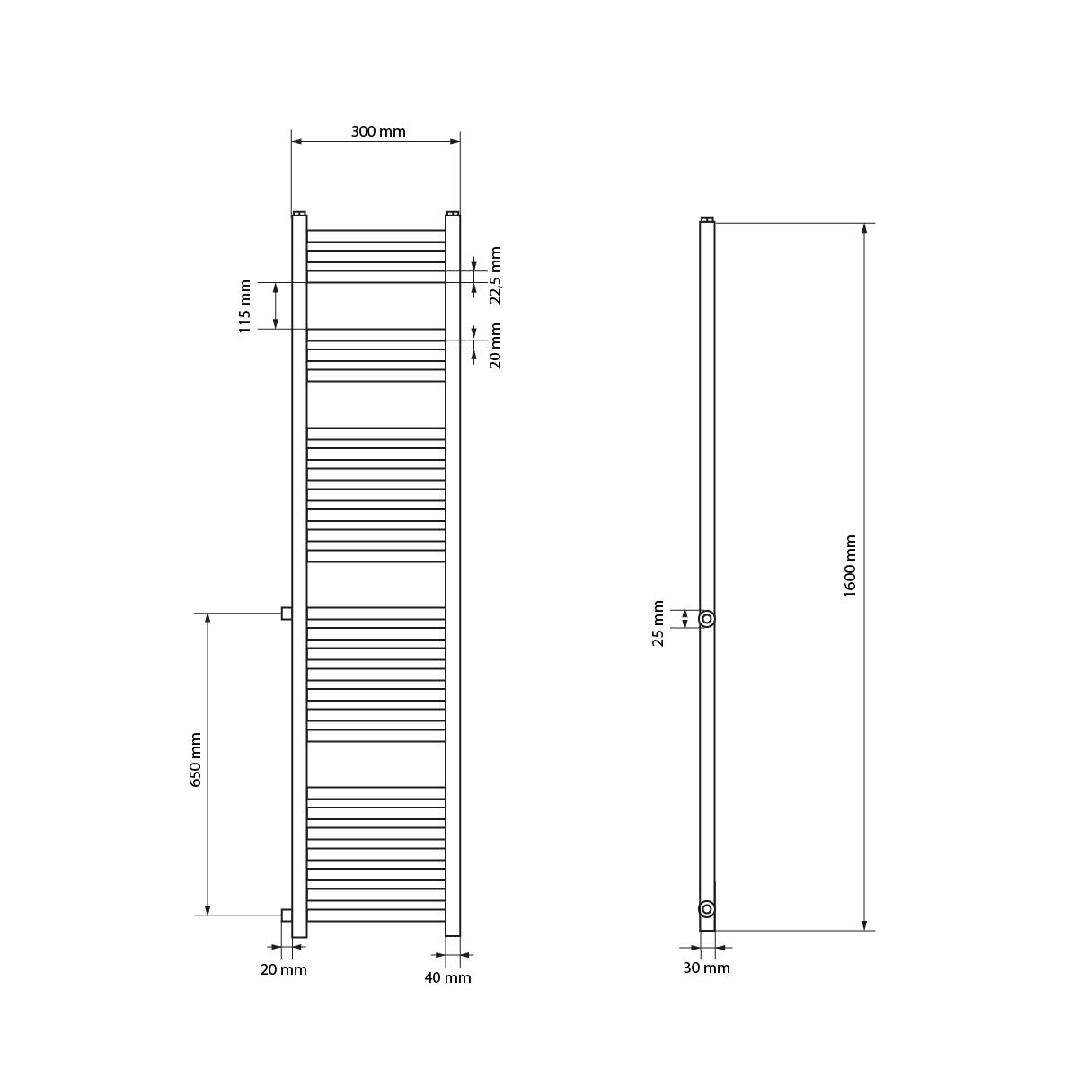 Badheizkoerper-Seitenanschluss-Weiss-Handtuchheizkoerper-Bad-Austausch-Heizkoerper