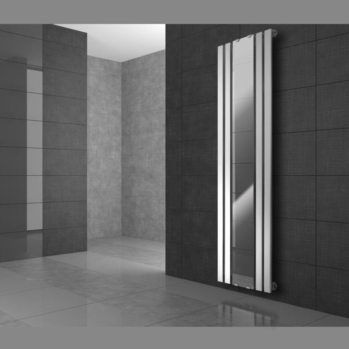 600x1800mm designheizk rper mit spiegel paneelheizk rper radiator badheizk rper ebay. Black Bedroom Furniture Sets. Home Design Ideas