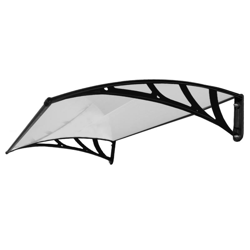 marquise auvent de porte d 39 entr e toit polycarbonate ombre. Black Bedroom Furniture Sets. Home Design Ideas