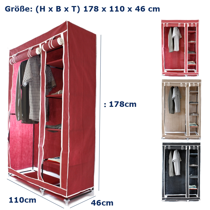 faltschrank schrank kleiderschrank textil stoff campingschrank garderobe mobiler ebay. Black Bedroom Furniture Sets. Home Design Ideas