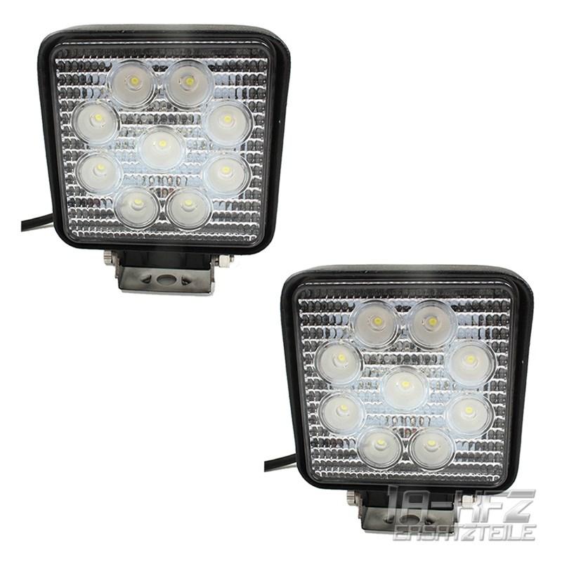 2x-27W-9-LED-Arbeitsscheinwerfer-Offroad-Scheinwerfer-12V-10-30V