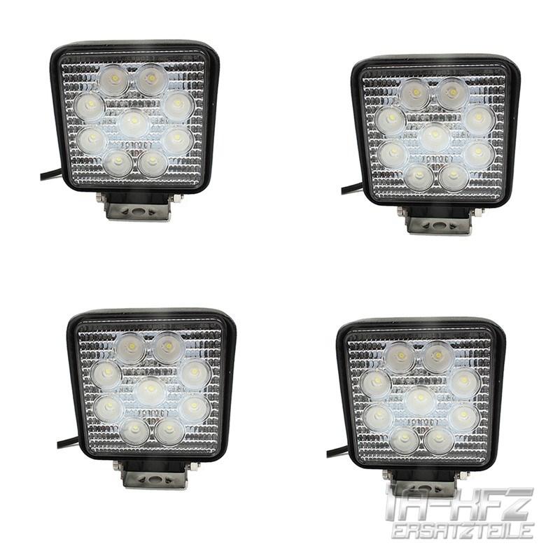 4x-27W-9-LED-Arbeitsscheinwerfer-Offroad-Scheinwerfer-12V-10-30V