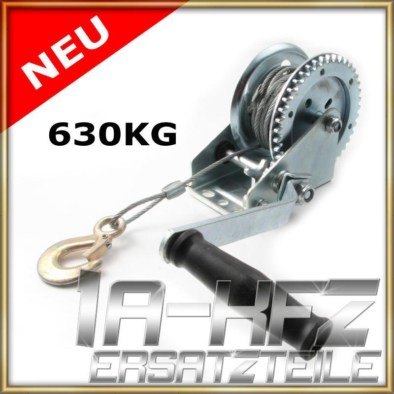 Handseilwinde-Seilwinde-Bootswinde-manuell-630KG-fuer-Anhaenger-Autoanhaenger
