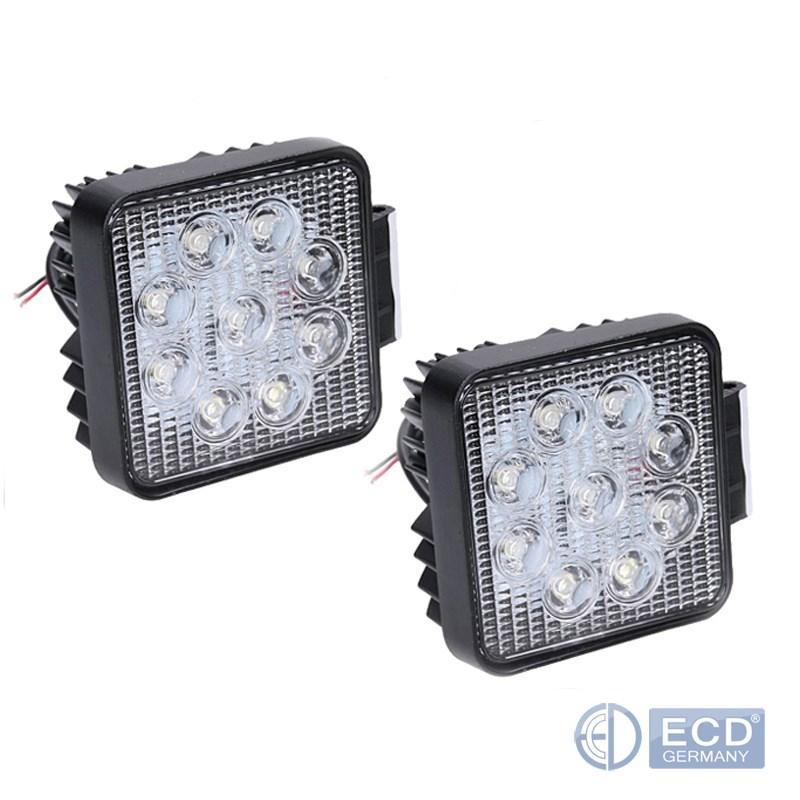 2St-LED-27W-Arbeitsscheinwerfer-Arbeitsleuchte-weiss-DC12-24V-Traktor-Bagger