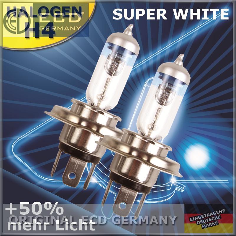 2x halogen birne h1 h4 h7 55w 12v gl hlampe autolampe. Black Bedroom Furniture Sets. Home Design Ideas
