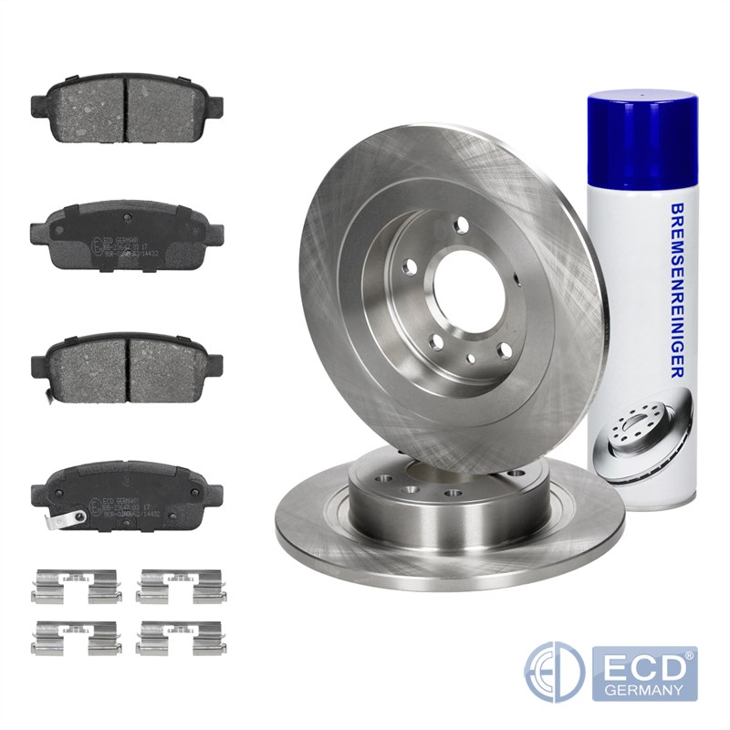 Set-2x-discos-de-freno-4x-pastillas-de-freno-atras-Opel-Chevrolet-Vauxhall