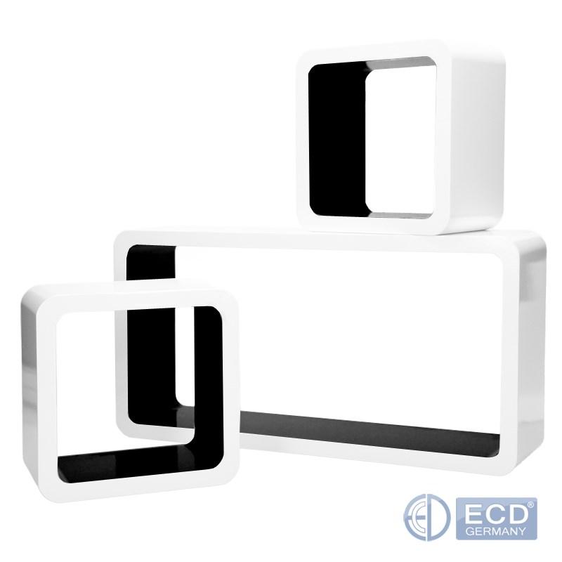 3x mensole cubi scaffale pensile da parete stile retro 3 for Cubi da parete ikea