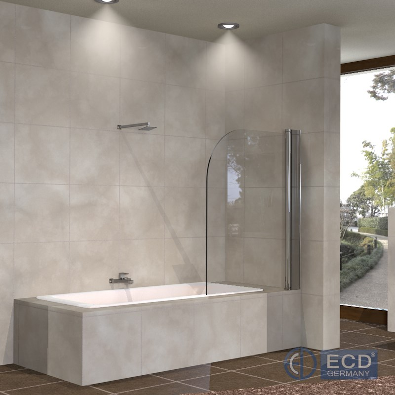 Vetro regolabile di separazione 80 x 140 cm doccia a parete vasca da bagno ebay - Vetro vasca bagno ...