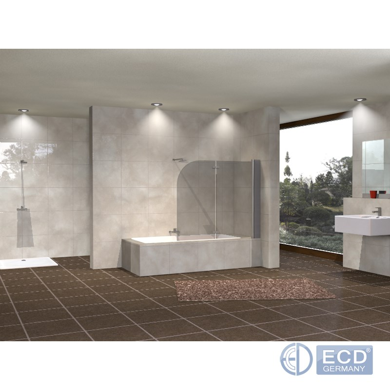porte douche paroi baignoire verre protection salle de bain 140x80 140x120 cm ebay. Black Bedroom Furniture Sets. Home Design Ideas