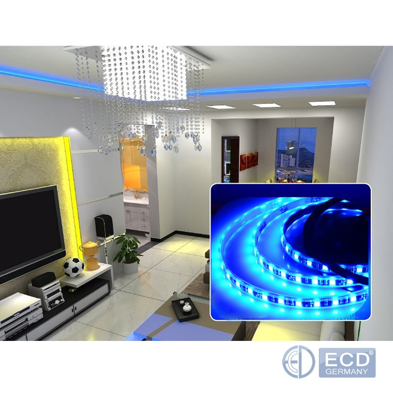 5m led leiste strip rgb 5050 smd band streifen lichtkette. Black Bedroom Furniture Sets. Home Design Ideas