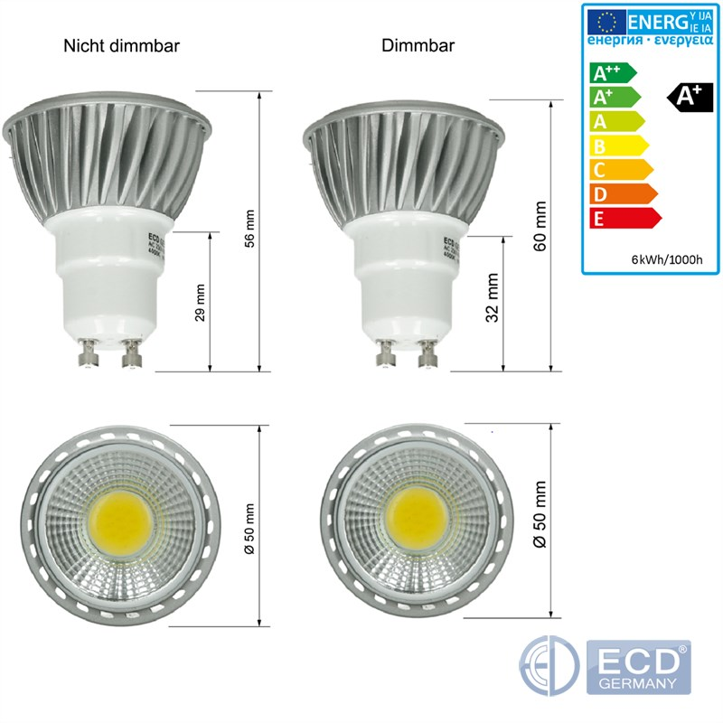 4W-6W-9W-GU10-MR16-LED-STRAHLER-SPOT-LICHT-LAMPE-BIRNE-LEUCHTMITTEL-DIMMBAR