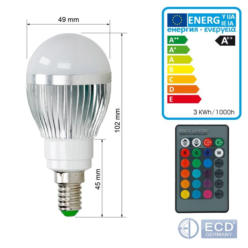 e14 e27 3w 5w 9w rgb led birne farbwechsel ir fernbedienung lampe dimmbar licht ebay. Black Bedroom Furniture Sets. Home Design Ideas