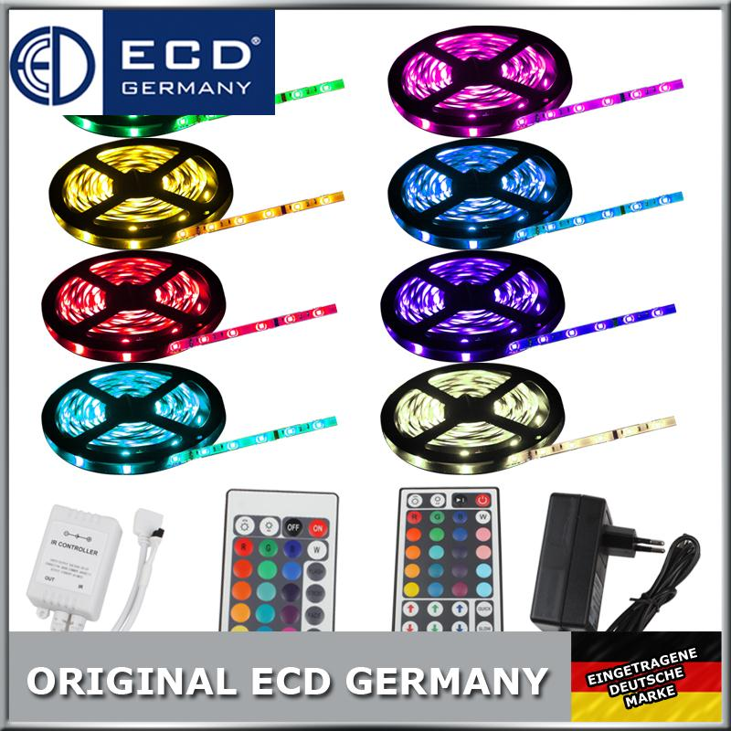 1m-30m-LED-RGB-SMD5050-30-60-LEDs-Streifen-Strip-Band-Leiste-Controller-Trafo